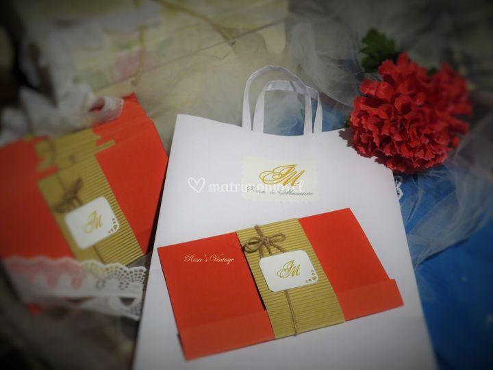 Invitacion de boda roja