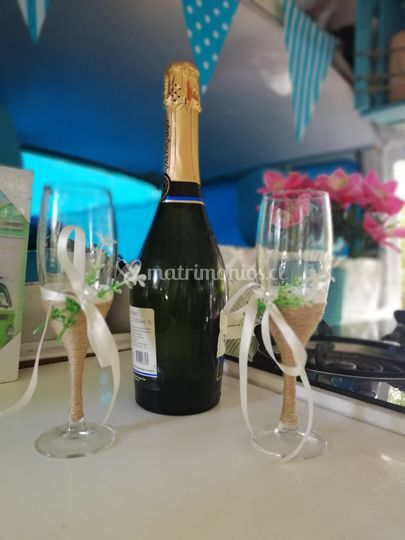 Champagne de cortesía