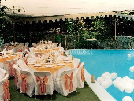 Mesas para una ceremonia de verano