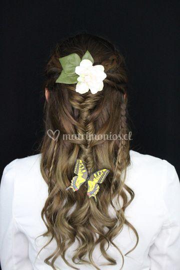 Peinado novia campestre