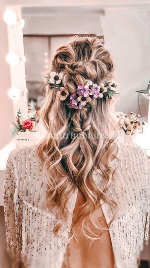 Peinado y corona