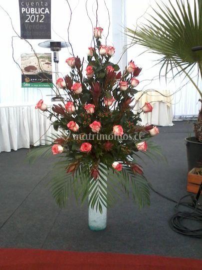 Velón de rosas ecuatorianas