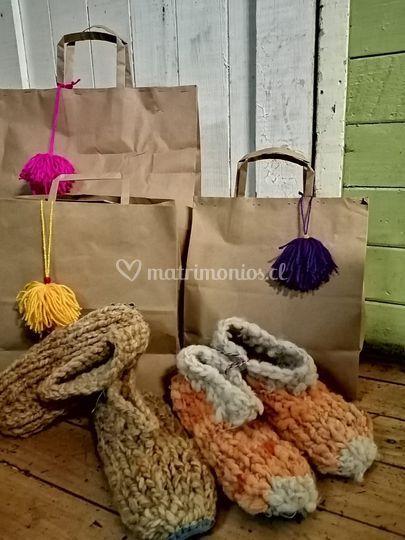 Pantuflas de lana cruda adulto