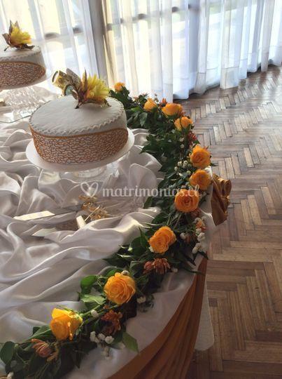 Jardinera en mesa torta