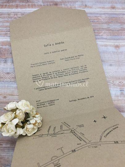 Tríptico papel reciclado