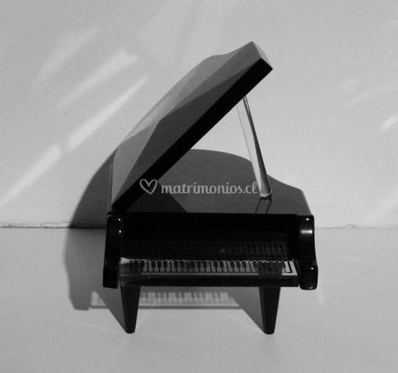 Caja de musica cristal Negro
