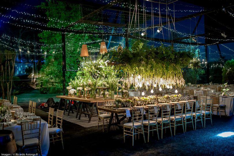 Mesa de novios, greenery