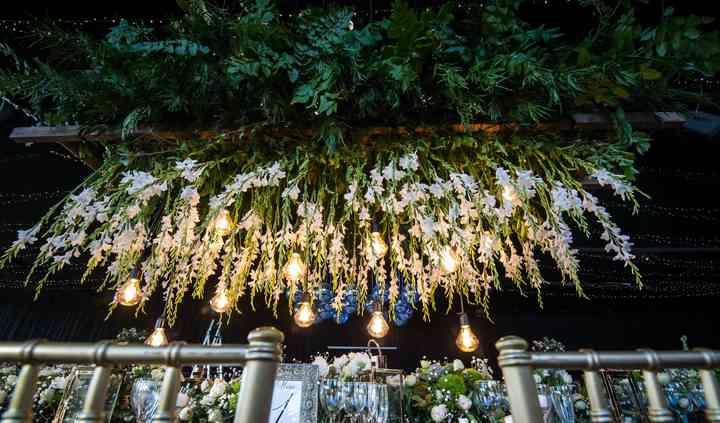 Decoración floral, greenery