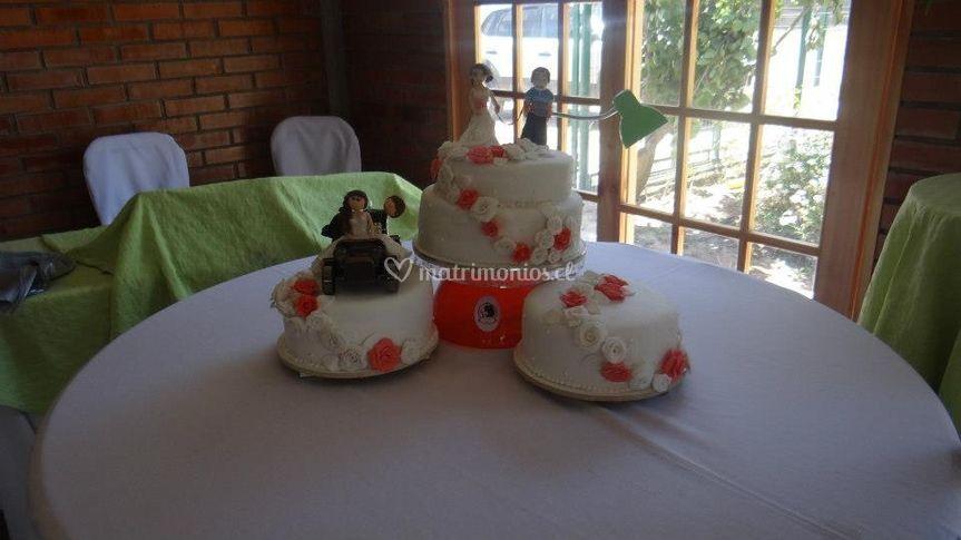 La hermosa torta