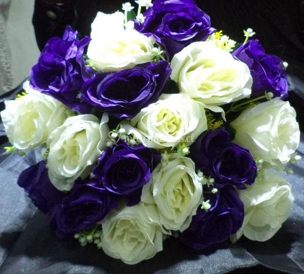 Ramo flores de seda