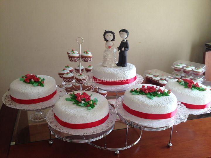 TortaNovios+cupcake pra regalo