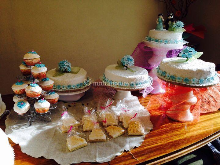 Tortas juego hortensias