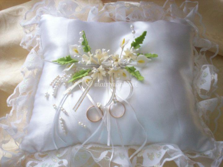 Cojín para anillos de boda