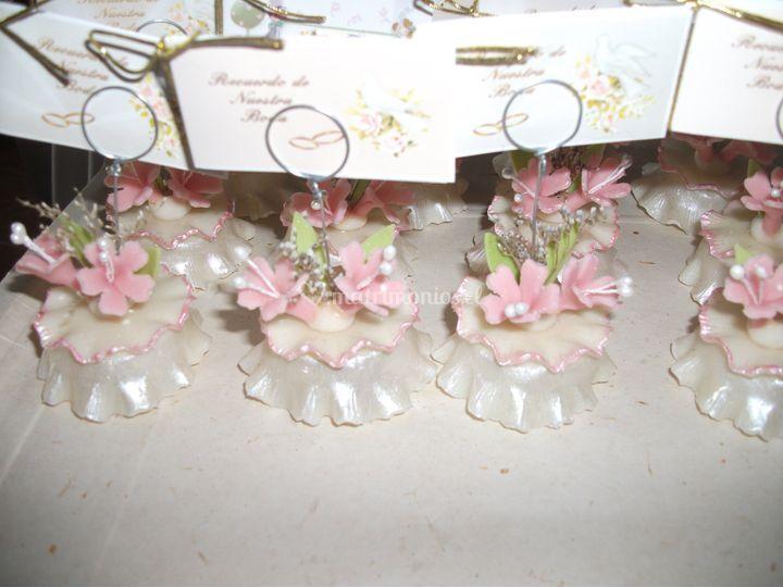 Cúpula con flores y  argollas