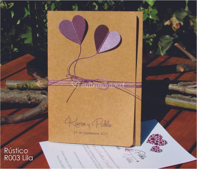 Parte rústico lila
