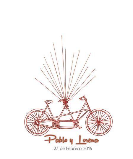 Panel bicicleta