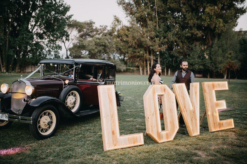 Decoración letras love