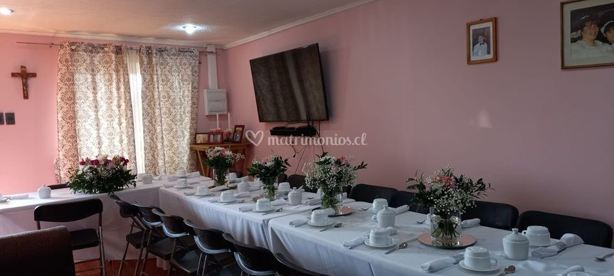 Mesa desayuno boda civil