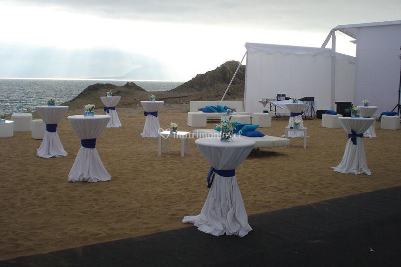 Mesas altas playa