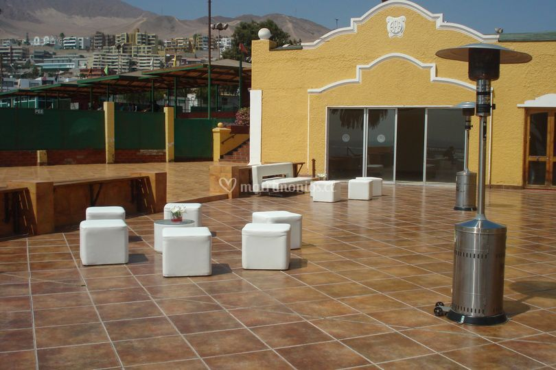Lounges blancos - calefactores