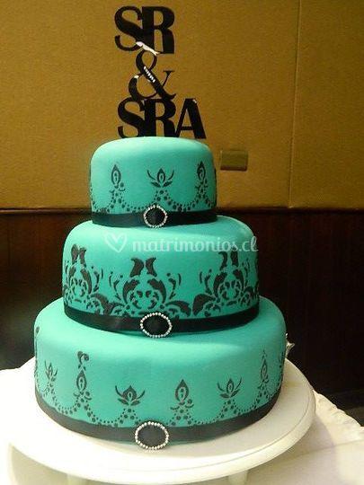 Torta con diseños en glasé