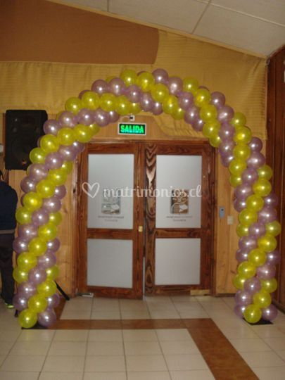 Arco de globos colores perla