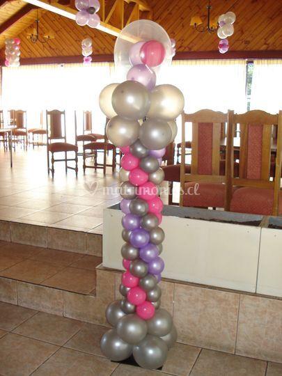 Pilar moderno de globos