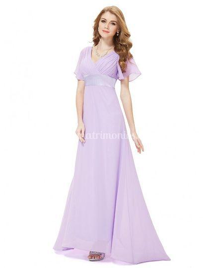 Vestido de gasa talla 46