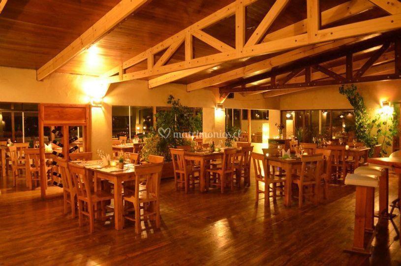 De noche en nuestro restaurant