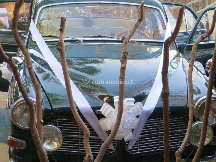 Auto para matrimonio Mostazal