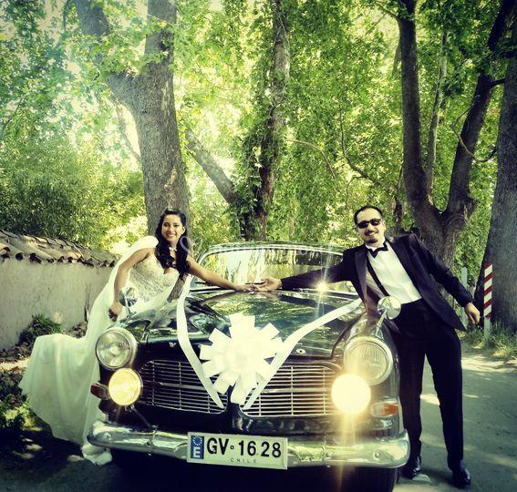 Auto matrimonio San Vicente