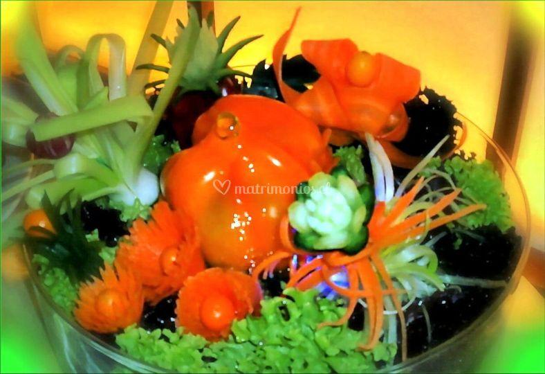 Composición de verduras