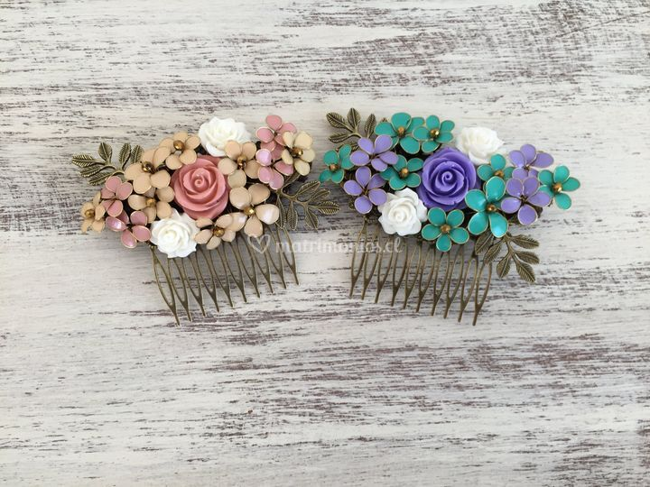 Peineta de flores