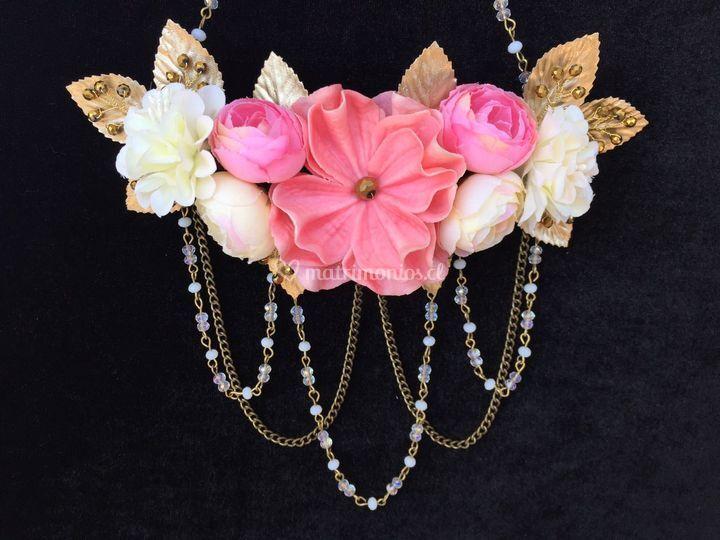 Media corona flores cristales