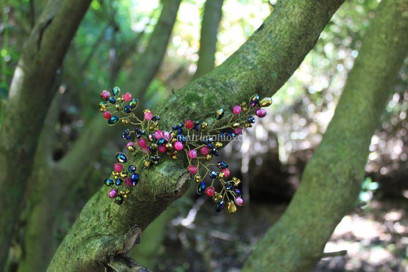 Tocado mariposa cristales