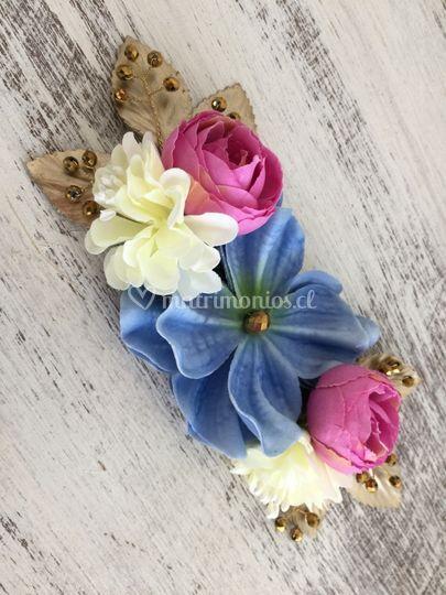 Media corona flores pequeña