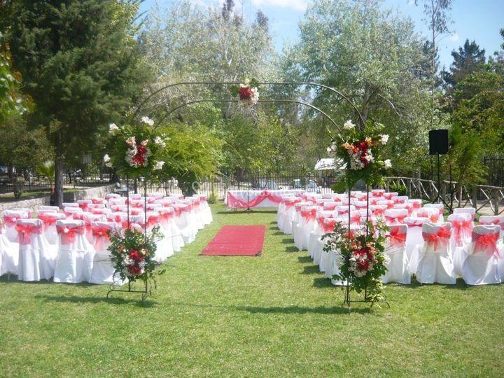 Ambientación de ceremonia