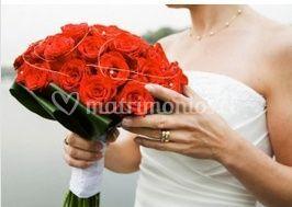 Rosas rojas en ramo