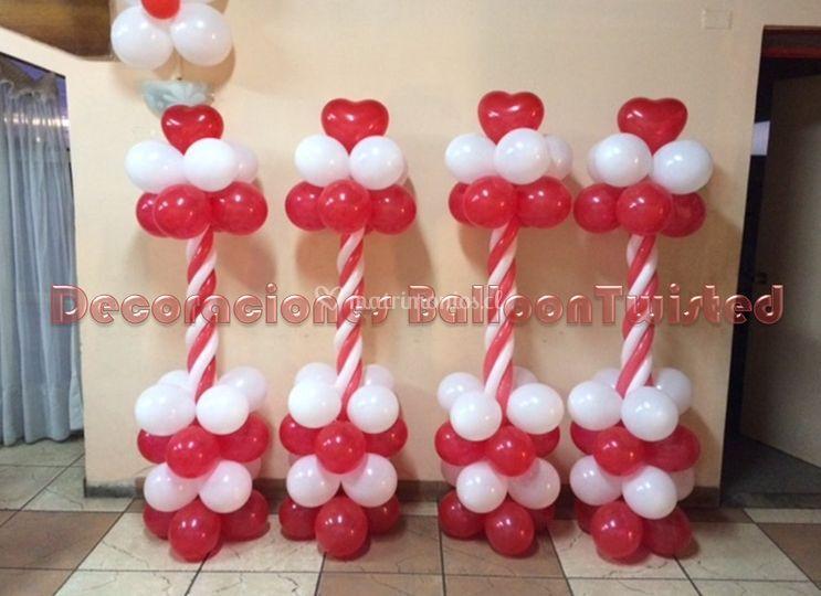 Pilares de globos