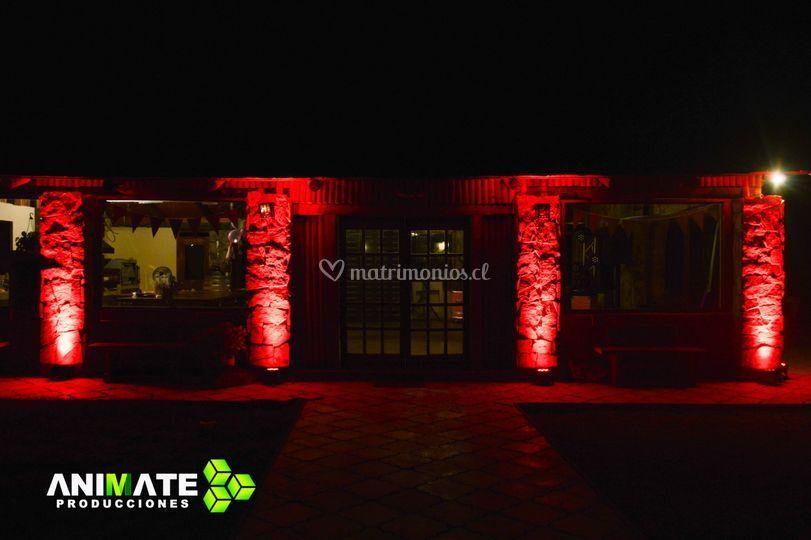 Iluminación exterior salones