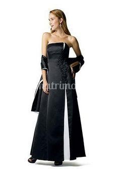 Vestido blanco y negro de gala