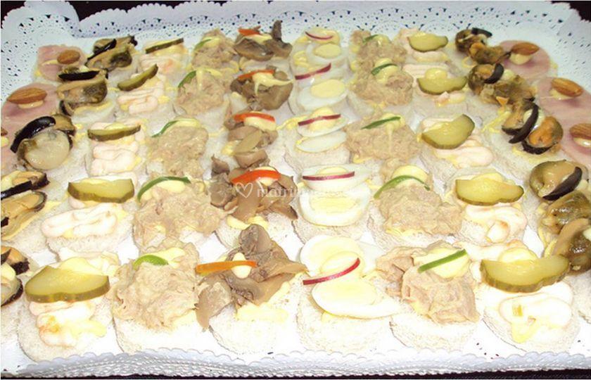 Bocados salados en Cocpeción