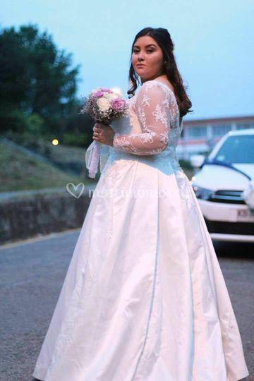 Vestido princesa con mangas