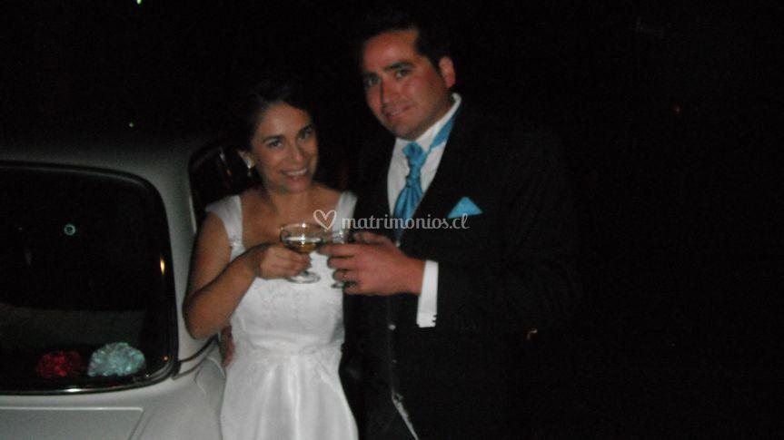 Brindis de los recién casados