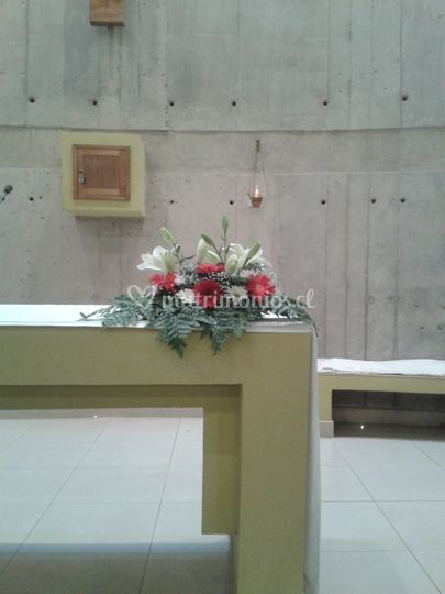 Arreglo tipo cojín altar