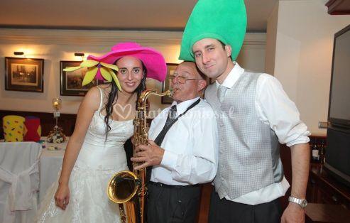 Con el trompetista