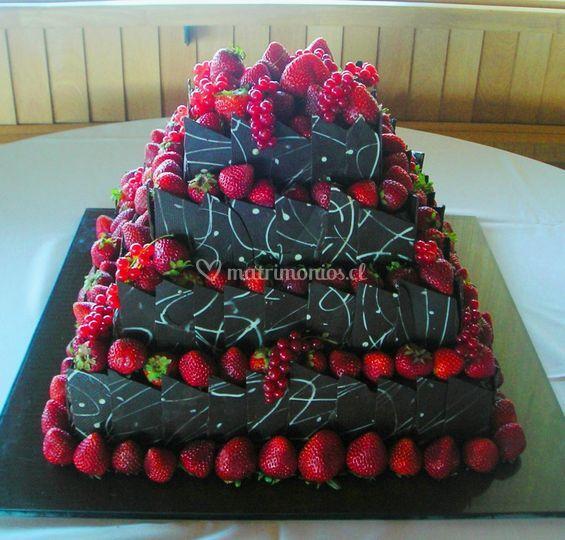 Torta Chocolate y berries