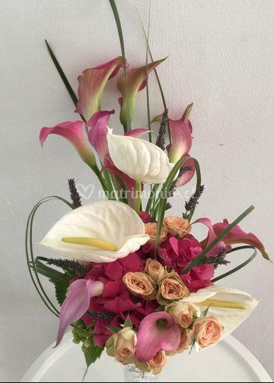 Ramo novia anthurium mini cala