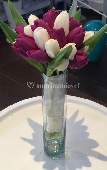 Ramo novia tulipanes