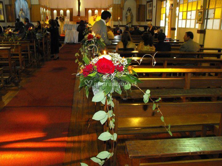 Camino de luz iglesia